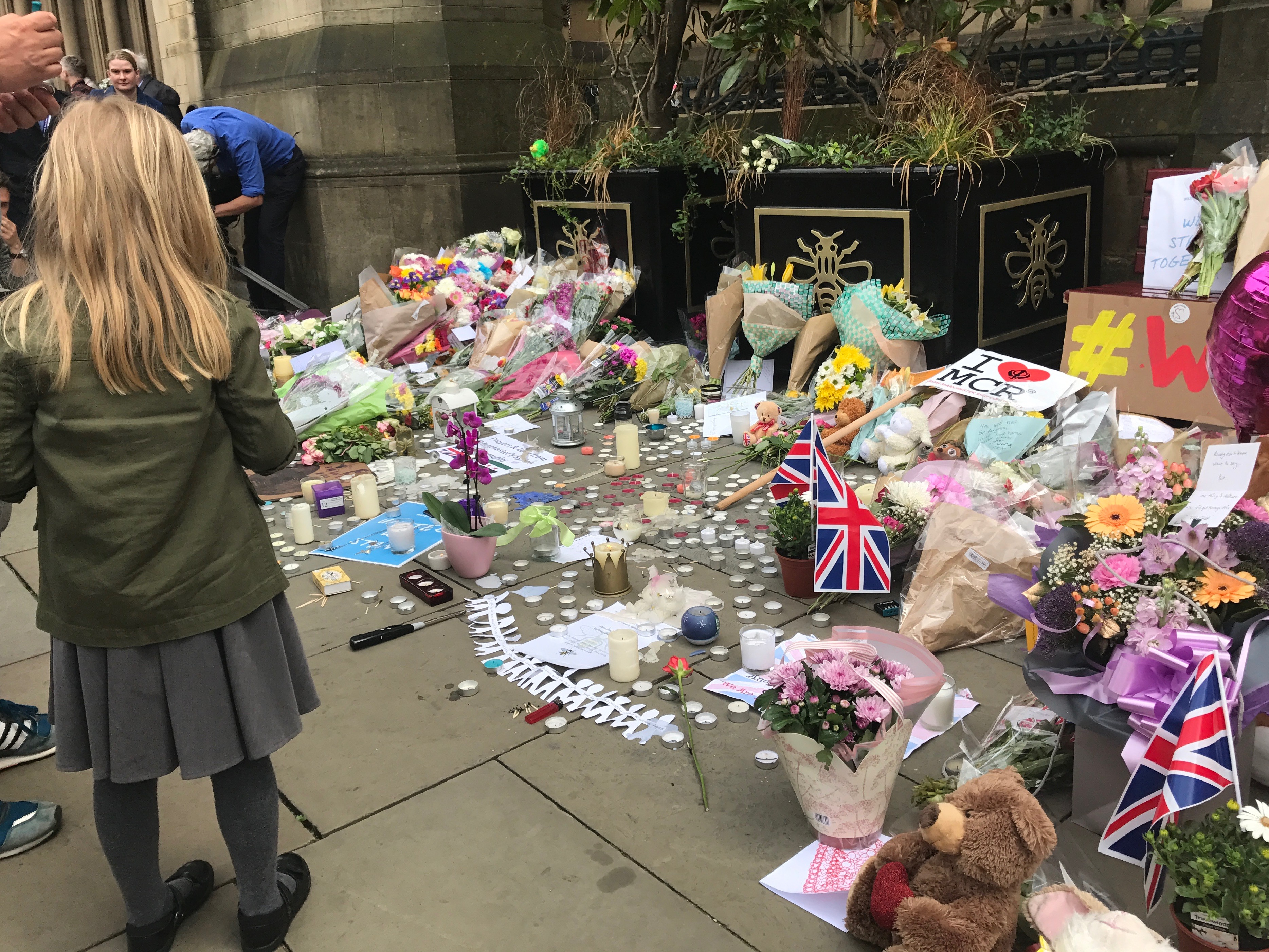Flower tributes to victims of Manchester Bomb